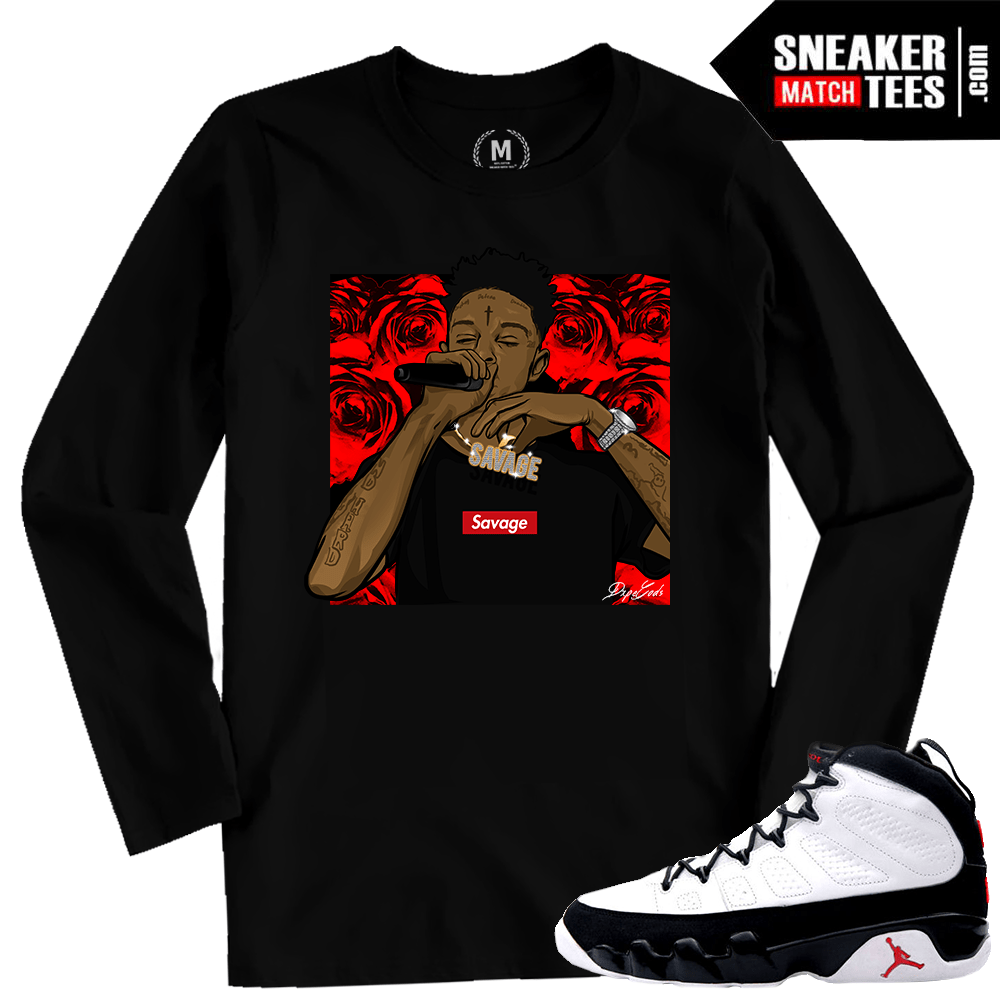 3e24cd4a76c Match Jordan 9 OG Space Jam | 21 Savage | Black Long Sleeve Shirt