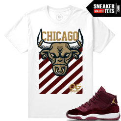 March Jordan 11 Velvet Maroon T shirts