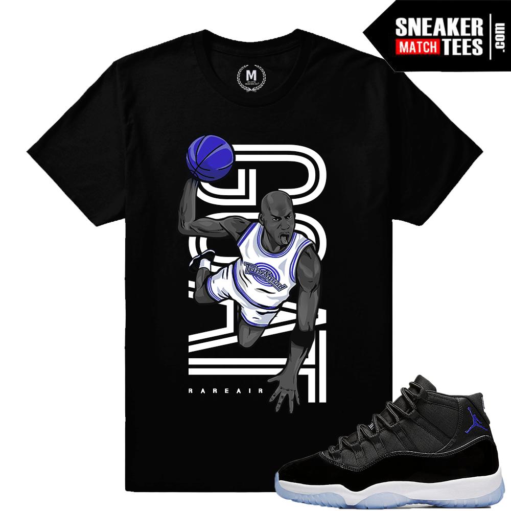 7c46776cdc4 Match Space Jam 11 Jordan Retros Shoes | Sneaker Match Tees