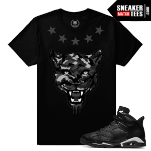 Shirts Match Black Cat 6 Jordans