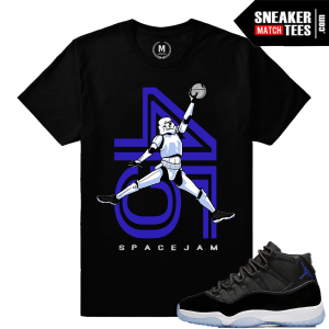 Sneaker Shirt Matching Space Jam 11s