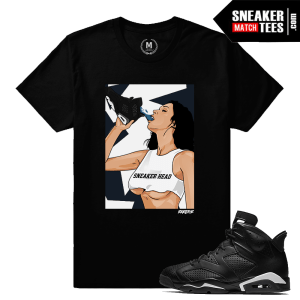 Sneaker Tee Matching Black Cat 6s