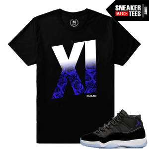 Sneaker Tees Match Jordan 11 Space Jams