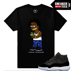 Space Jam 11 Matching Kodak Black T shirt