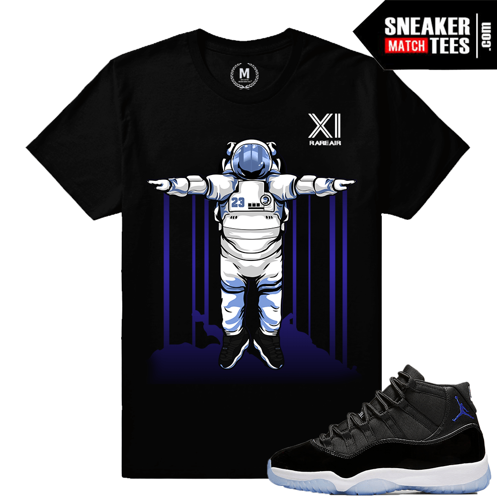 cb786799b9fa Space Jam 11 T shirt Matching Jordan Retro 11