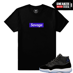 Space Jam 11s Savage T shirt