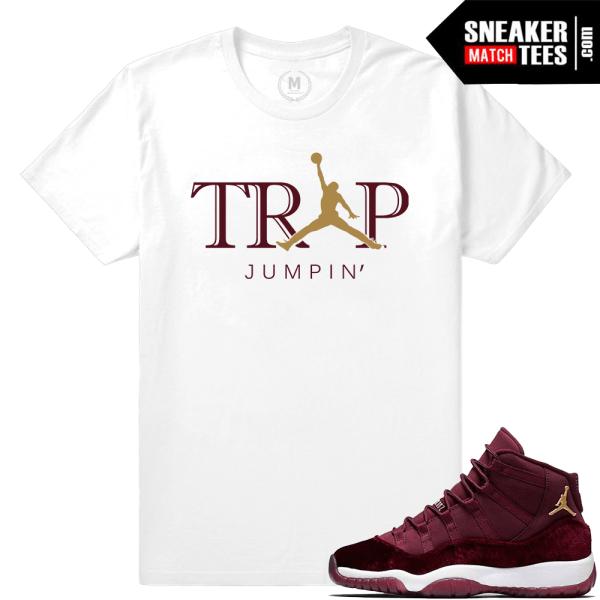 T Shirt Jordan 11 Velvet Maroon Match Sneaker Tees