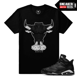 T shirt Match Jordan 6 Black Cat