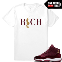 T shirt Matching Jordan 11 Velvet Maroon
