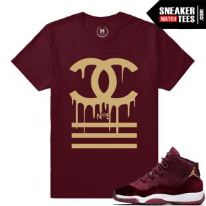 Velvet 11 Jordan Matching Sneaker Tees Shirts