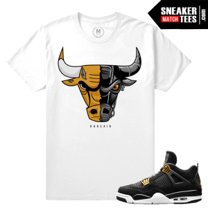 Air Jordan 4 Royalty Sneaker Match Tees
