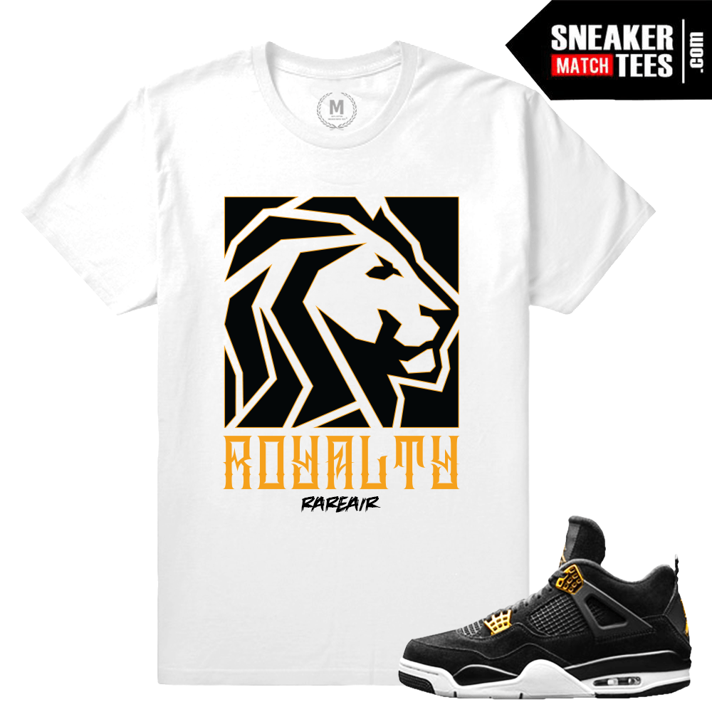 115724ee417d4 Match Jordan 4 Royalty | Lion Order | White T shirt