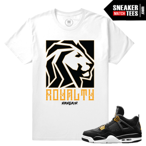 Air Jordan 4 Royalty tee shirt Match