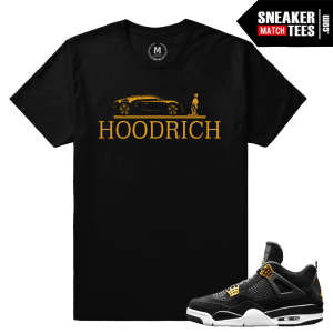 Jordan 4 Royalty Matching Tee Shirts