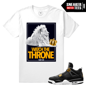 Jordan Retro 4 Royalty t shirts Match