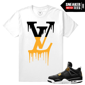 Match Air Jordan IV Royalty sneaker tees