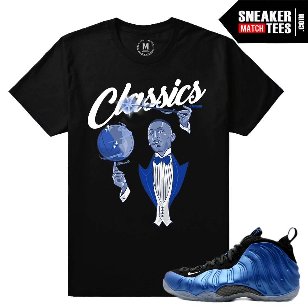 Penny Foams Royal Foamposite Shirts Sneaker Match Tees
