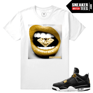 Sneaker Tees Shirts Match Jordan 4 Royalty