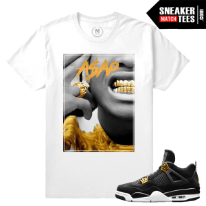 T shirt Jordan 4 Royalty Match Sneakers