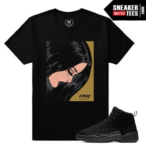 Jordan 12 OVO Black Sneaker Match T shirt
