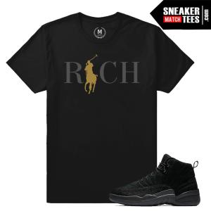 Jordan 12 OVO Black T shirt
