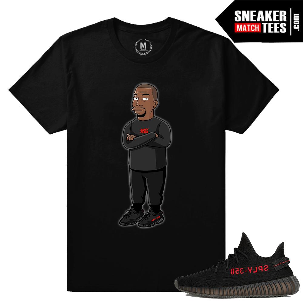 49cf3648fbb332 Kanye T shirt Yeezy Boost 350 Black Red