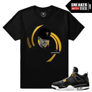 Royalty 4s matching t shirt Jordans