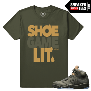 Sneaker Tees shirts Match Jordan 5 Take Flight
