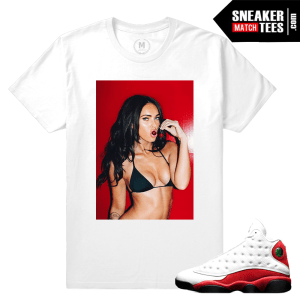 T shirt Match Jordan 13 Chicago Cherry sole