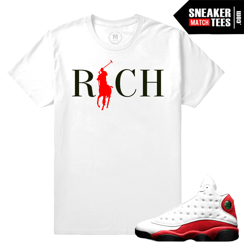 T shirt Match Jordan 13 Chicago