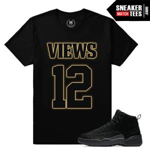 T shirts Matching OVO 12s Black