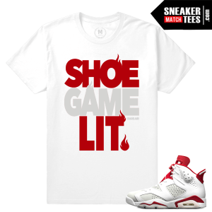 Match Air jordan 6 Alternate T shirts