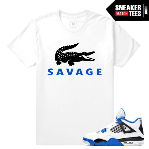 Sneaker tee shirt Match Air Jordan 4 motorsport