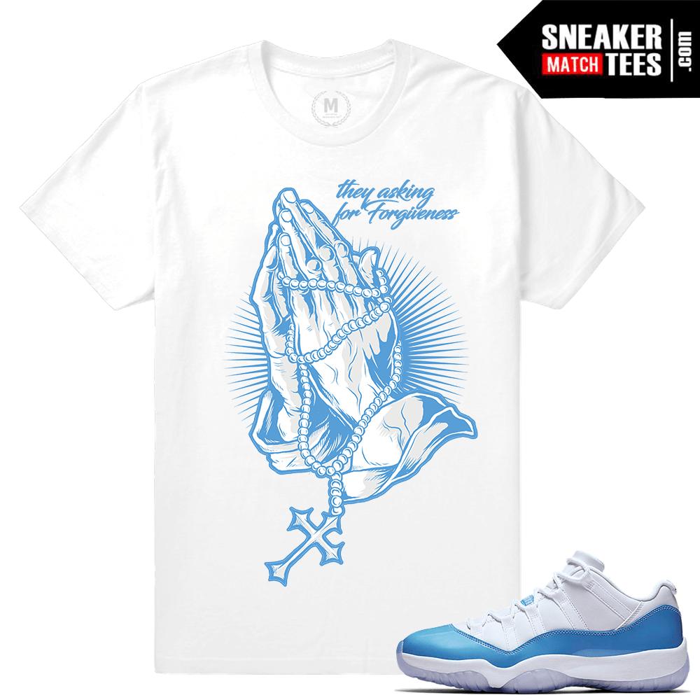 370a32ee203f Air Jordan 11 University blue match T shirt