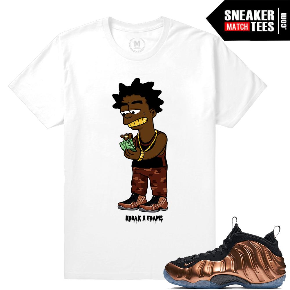 6ea4456aee7e0d Copper Foamposite Sneaker t shirts