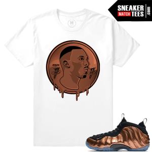 Copper Foams t shirt Match Sneakers