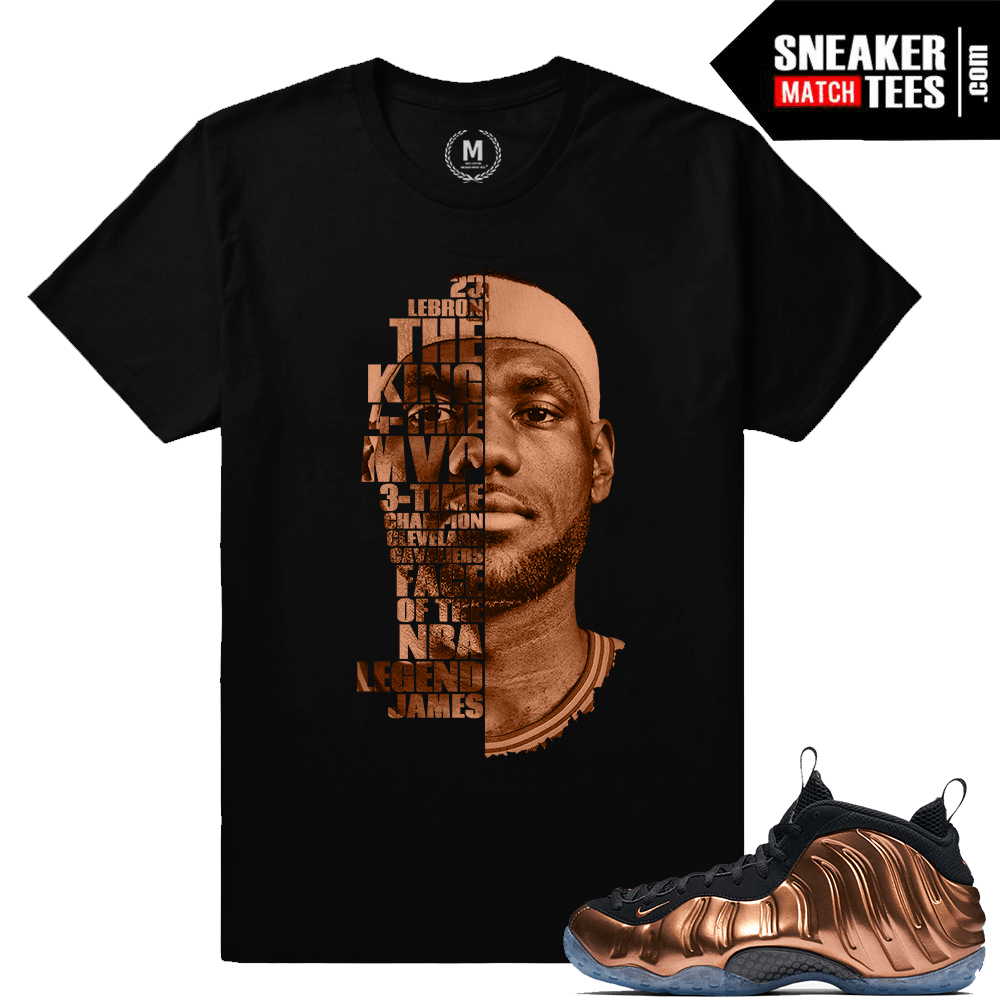 9f0b0e96c94 Lebron James T shirt Match Nike Copper Foams