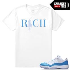 Match Air Jordan 11 UNC sneakers