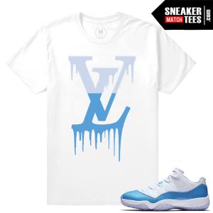 Match Air Jordan 11 UNC t shirt
