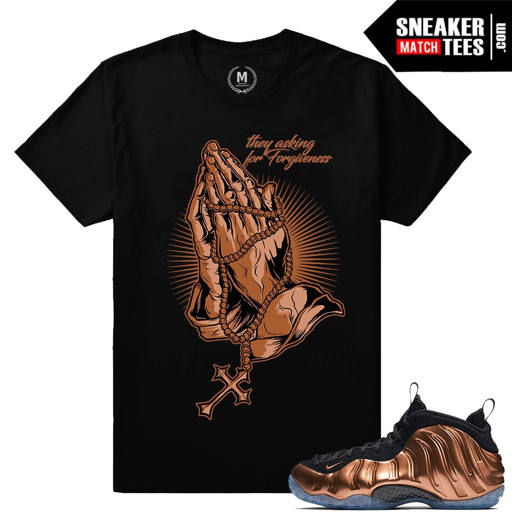 e2d98179070e4 Nike Foamposite Copper Match Sneaker Tee Shirts