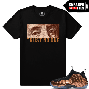 Match Nike Foams Copper Sneaker tees