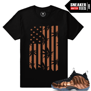 Nike Foamposite Copper Sneaker tees shirt