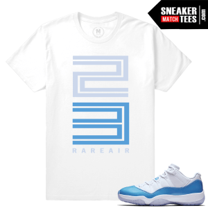 Sneaker Tees Match Air Jordan 11 UNC