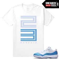 Sneaker Tees Match Air Jordan 11 UNC