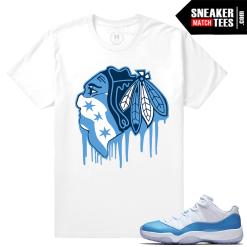 Sneaker shirts Match UNC 11 lows Jordan