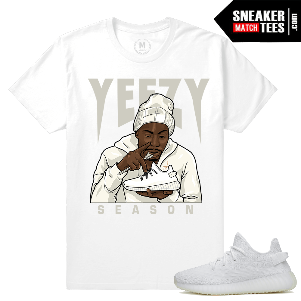 T shirt Match Yeezy Boost 350 White