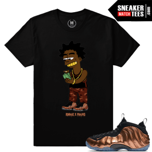 T shirts Matching Copper Nike Foams