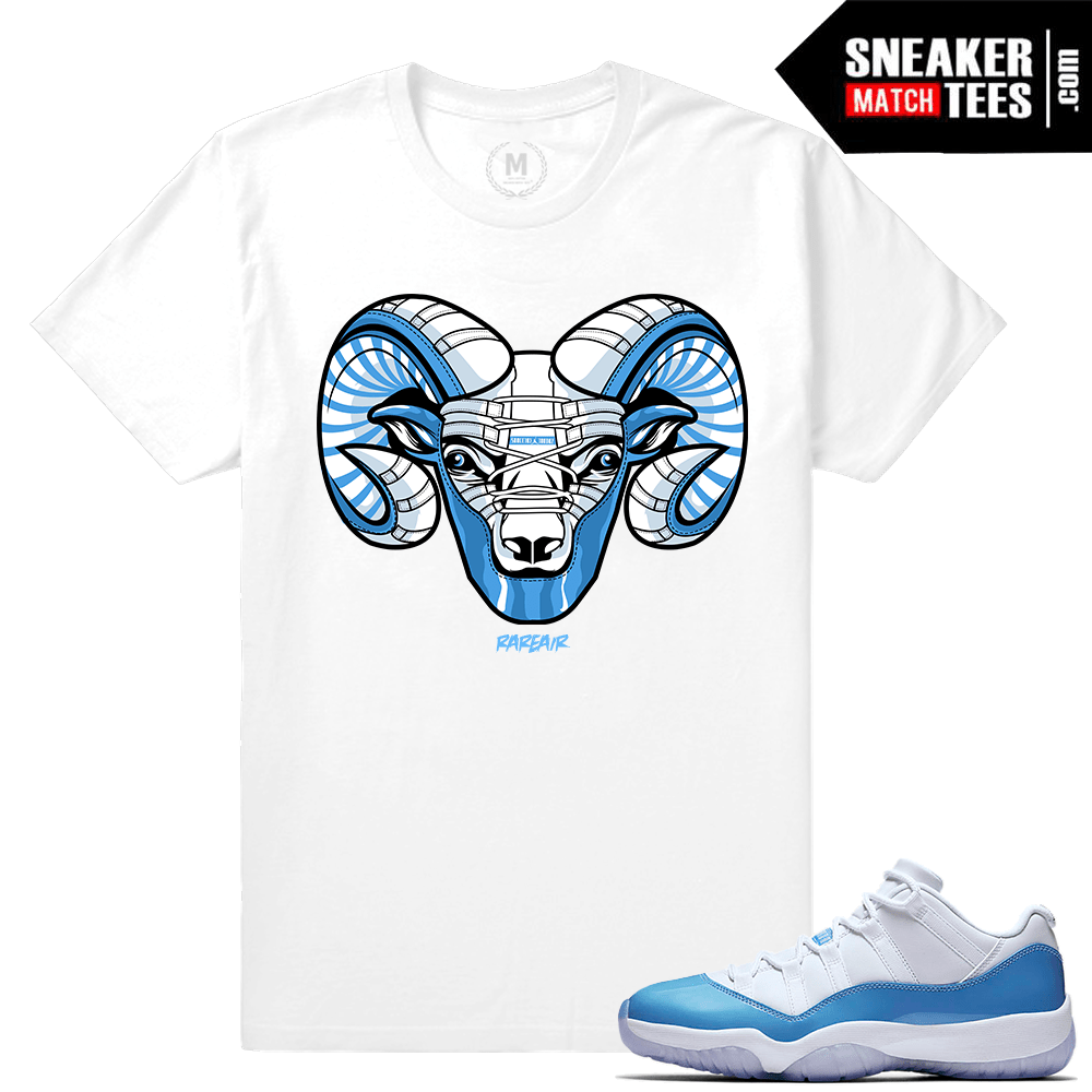 newest collection 56255 8e70d Match Jordan 11 Low UNC. UNC 11 Low Sneaker tee shirt