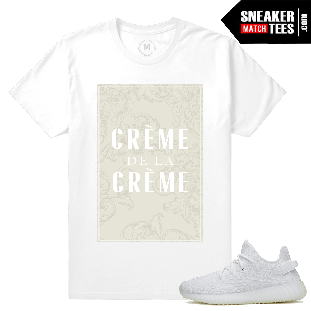 White Yeezys t shirt Match Yeezy Boost