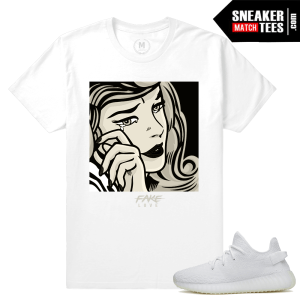 Yeezy Boost 350 All White Cream T shirt